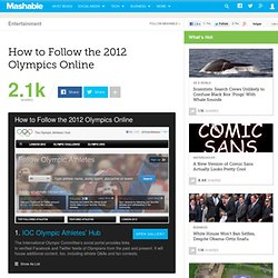 How to Follow the 2012 Olympics Online