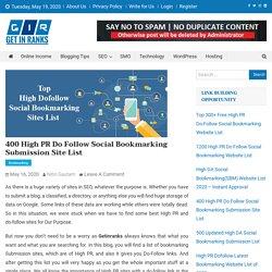400+ Free Do-Follow Social Bookmarking Website List