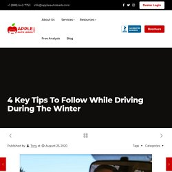 4 Key Tips To Follow While Driving During The Winter