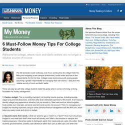 6 Must-Follow Money Tips For College Students