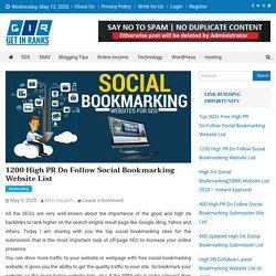 Social Bookmarking Sites List 2020