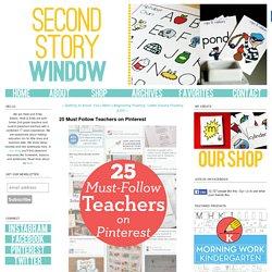 25 Must Follow Teachers on Pinterest - Second Story Window