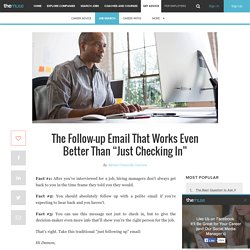 A Follow-up Email Template to Use Job Interviews