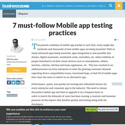 7 must-follow Mobile app testing practices