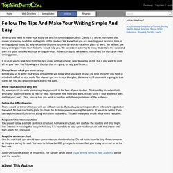 Follow The Tips And Make Your Writing Simple And Easy