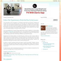Fit With Dario App: Follow The Transformative Work Out Plan To Get Leaner
