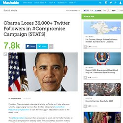 Obama Loses 36,000+ Twitter Followers in #Compromise Campaign [STATS]