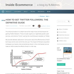 "How to Get Twitter Followers: The Definitive Guide "" The Me"