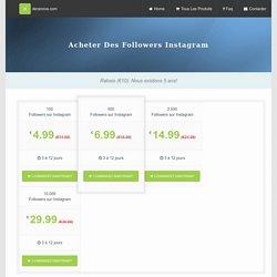 Acheter Des Followers Instagram - Deranova.com