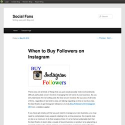 When to Buy Followers on Instagram