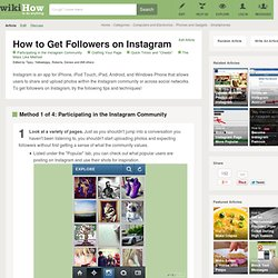 4 Ways to Get Followers on Instagram