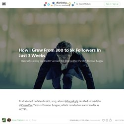 How I grew from 300 to 5k followers in just 3 weeks — Marketing & Growth Hacking