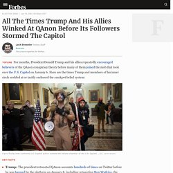 All The Times Trump And His Allies Winked At QAnon Before Its Followers Stormed The Capitol