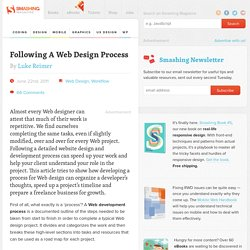 Following A Web Design Process - Smashing Magazine