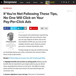 If You're Not Following These Tips, No One Will Click on Your Pay-Per-Click Ads