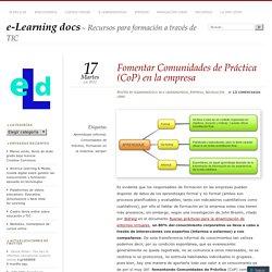 Fomentar Comunidades de Práctica (CoP) en la empresa