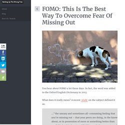 FOMO: This Is The Best Way To Overcome Fear Of Missing Out
