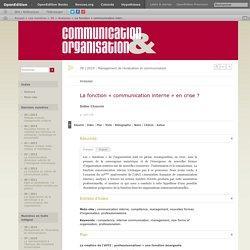 La fonction «communication interne» en crise?