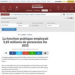 La fonction publique employait 5,65 millions de personnes fin 2015