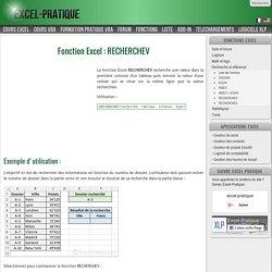 Fonction RECHERCHEV