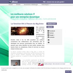 La fonction RH à l'heure du Big Data - Silicon
