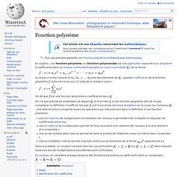 Fonction polynôme