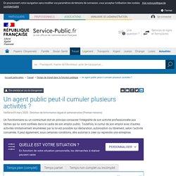 Fonction publique : cumul d'activités d'un agent à temps complet