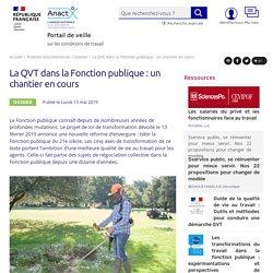 La QVT dans la Fonction publique : un chantier en cours