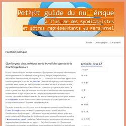Fonction publique – Petit Guide du numérique