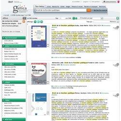 Droit de la fonction publique - 41506 résultats sur Gallica