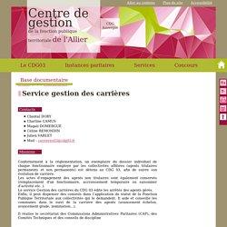 Centre de gestion de la fonction publique territoriale d'Allier - Service carrière