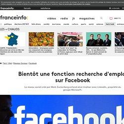 Bientôt une fonction recherche d'emploi sur Facebook