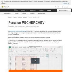Fonction RECHERCHEV - Support Office