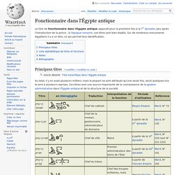 Fonctionnaire dans l'Égypte antique