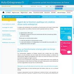 Fonctionnaire auto-entrepreneur