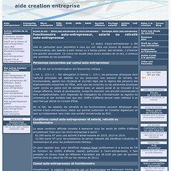 Fonctionnaire auto-entrepreneur, salarié ou retraité auto-entrepreneur - aide creation entreprise