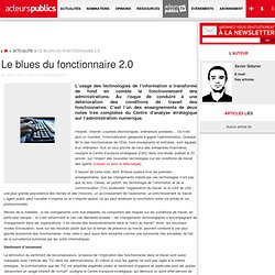 Le blues du fonctionnaire 2.0