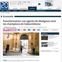 Fonctionnaires: Les agents de Matignon sont les champions de l'absentéisme