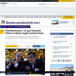 Fonctionnaires : ce que François Fillon et AlainJuppé veulent faire
