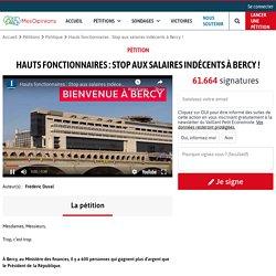 Hauts fonctionnaires : Stop aux salaires indécents à Bercy !