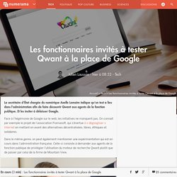 Les fonctionnaires invités à tester Qwant à la place de Google - Tech