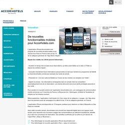 De nouvelles fonctionnalités mobiles pour Accorhotels.com - Actualités - AccorHotels