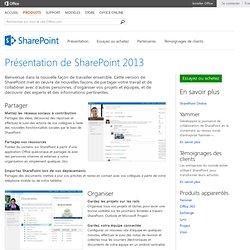 Vue d'ensemble de SharePoint2013: fonctionnalités du logiciel de collaboration