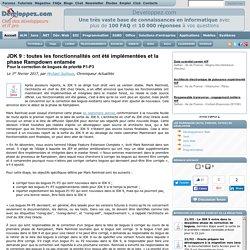 JDK 9 : toutes les fonctionnalités ont été implémentées et la phase Rampdown entamée pour la correction de bogues de priorité P1-P3