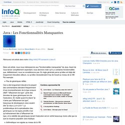 Java : Les Fonctionnalités Manquantes