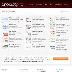 Aperçu - projectpro : une application web de gestion de projets et de travail collaboratif