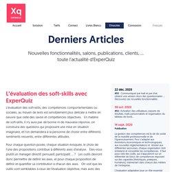 Blog - Nouvelles Fonctionnalites, Salons, Publications