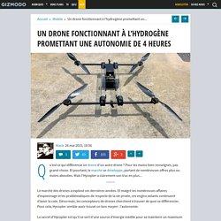 Un drone fonctionnant à l'hydrogène promettant une autonomie de 4 heures