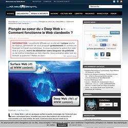 """Plongée au coeur du """"Deep Web"""" - Comment fonctionne le Web clandestin"""