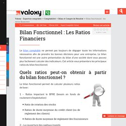 Bilan fonctionnel : les ratios financiers